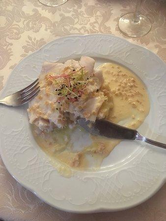 Manoir de la Giraudiere: Filet de Sandre sur lit de purée de pomme de terre