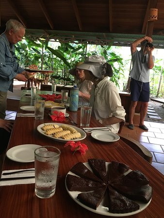 Palo Seco, كوستاريكا: Tasting menu o farm-grown fruit and chocolate desserts after the tour.
