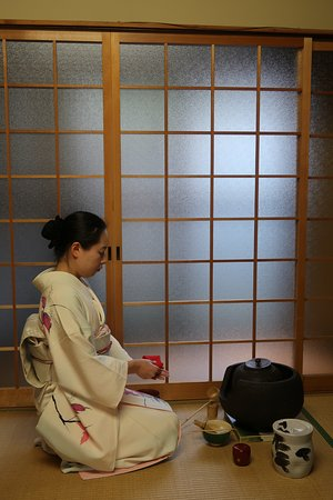 Green Rose Calligraphy: During the tea ceremony