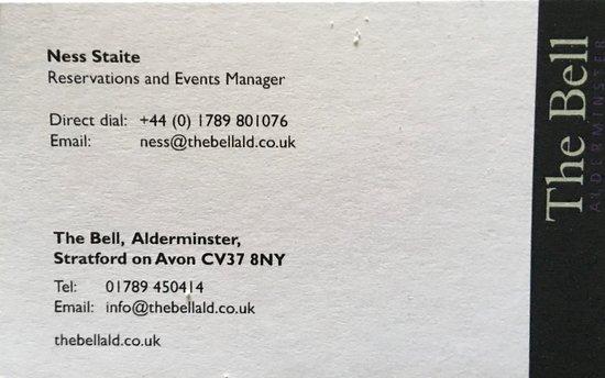 Alderminster, UK: For full and helpful information