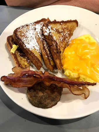 Rowlett, TX: French Toast with Cheese Eggs