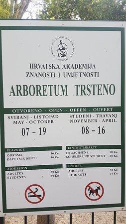 Trsteno, โครเอเชีย: Opening hours