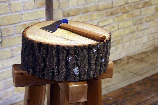 Saint Paul, MN: Thump the Stump game at Lumberjack City