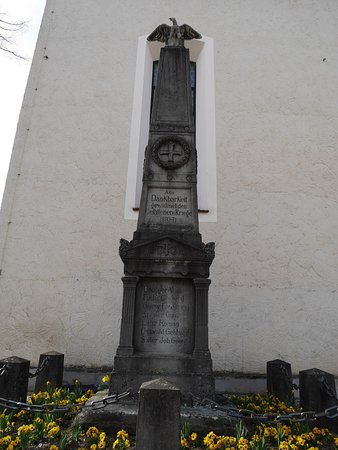 War Memorial in front of Saint George Chapel in Tettnang.