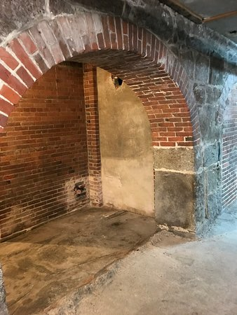 Enfield, NH: Basement arches support the huge architectual weight of the Great Stone Dwelling
