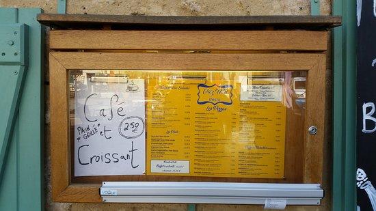 Rennes-les-Bains, Γαλλία: Menu Board