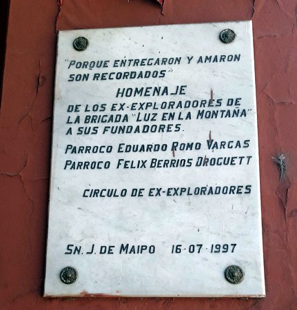 Parroquia San Jose De Maipo: precisa de cuidados