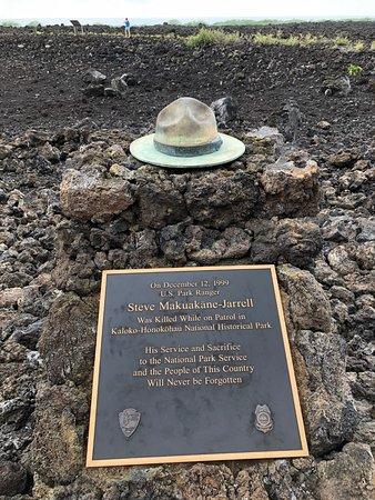 Kaloko-Honokohau National Historical Park: In memory of a fallen ranger...
