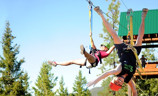 Lake Country, Canada: We have the side-by-side ziplines! BC's only full-size ziplines and aerial parks are in Oyama.