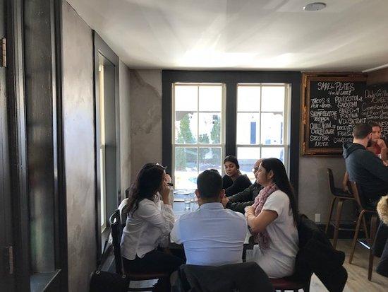 The Pie Plate: interior of restaurant