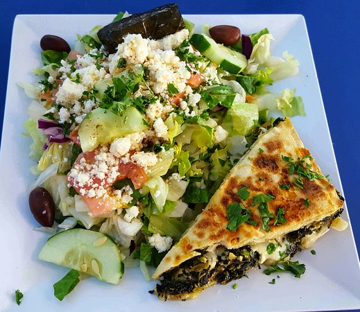Lake Worth, FL: Spinach pie and salad