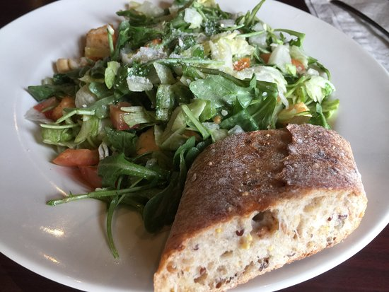 Hillside, IL: House salad at Buona Beef