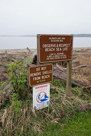 Des Moines, WA: beach sign