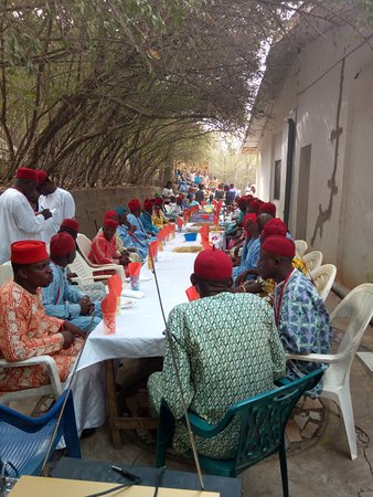 Lokoja, Nigeria: I was priviledged to dine at the King's table with all the Chief's of Ogidi Kingdom.
