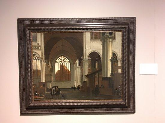 Ackland Art Museum: Interior of Oude Kerk, Amsterdam by Emanuel de Witte.