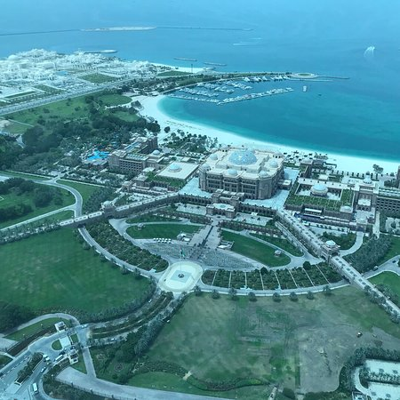 Great 360 degree view of Abu Dhabi from Observation Deck