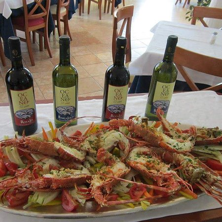 Aragoste all'hotel Oceano Marina di Pietrasanta