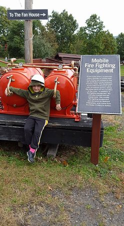 Pennsylvania Anthracite Heritage Museum : He loves firefighter things