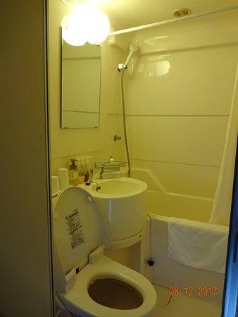 Hotel New Station : 浴室は普通のユニットタイプ。