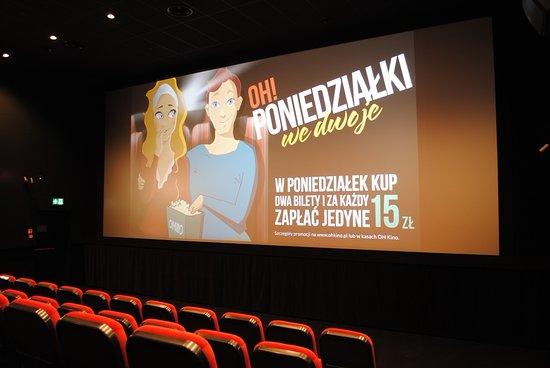 Olawa, Polen: OH Kino Oława to cztery klimatyzowane sale wyposażone w fotele klasy Komfort i Premium.