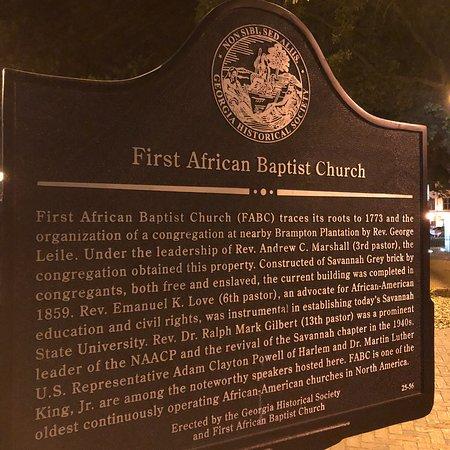 First African Baptist Church : Church