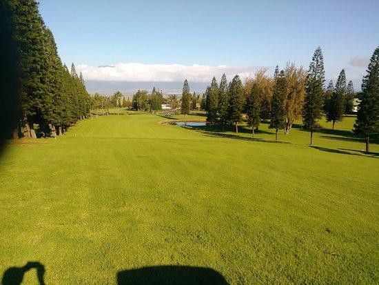 Pukalani, Hawái: View down the 10th fairway