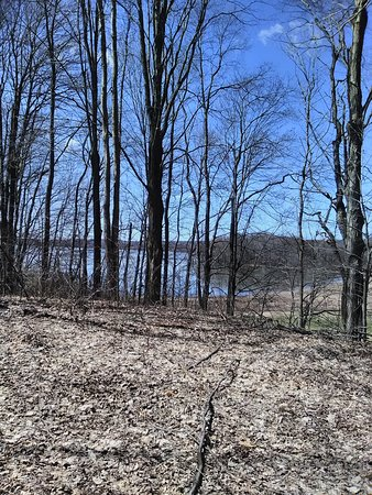 Rome, NY: A view of the lake by the upper picnic area, early Spring.