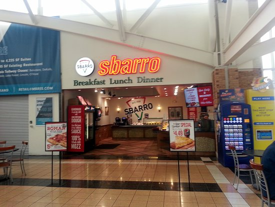 front of & counter of Sbarro in the Belvidere Oasis (I-90) at M.M. 54.5