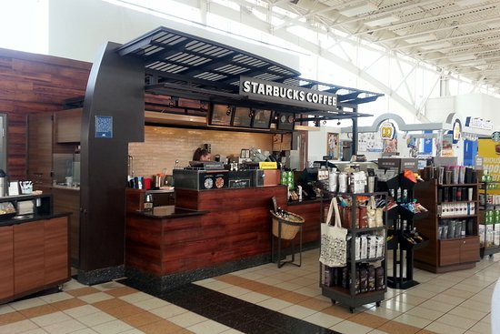 front of & counter for Starbucks Coffee at the Belvidere Oasis M.M. 54.5 on I-90