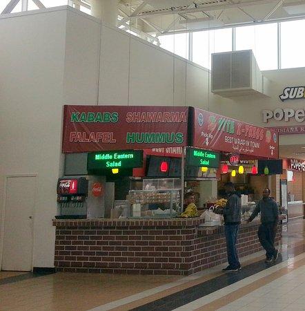 Belvidere, IL: front of & counter for Pita X-Press