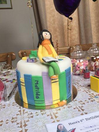 West Byfleet, UK: Matilda cake front