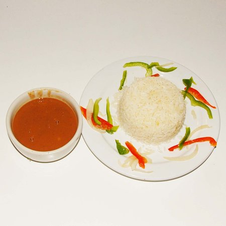 Naranja, FL: white rice with beans