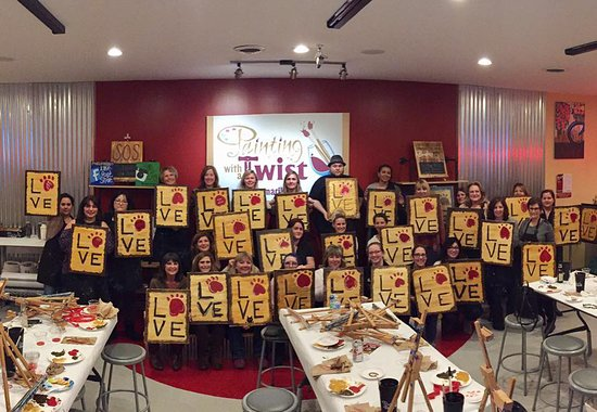 Painting with a Twist: Classes of up to 45 people.