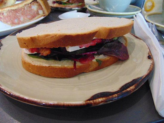 Longframlington, UK: Bacon, Brie & Cranberry Sandwich