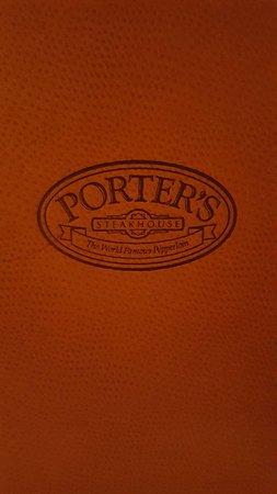 Porter's Steakhouse: Menu Cover