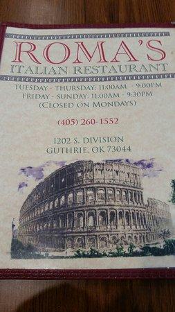 20180414135428largejpg Picture Of Romas Italian Restaurant