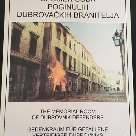 Memorial Room of the Defenders of Dubrovnik : photo0.jpg