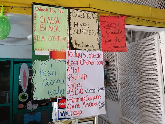 San Jose Succotz, Belice: Benny's Kitchen menu