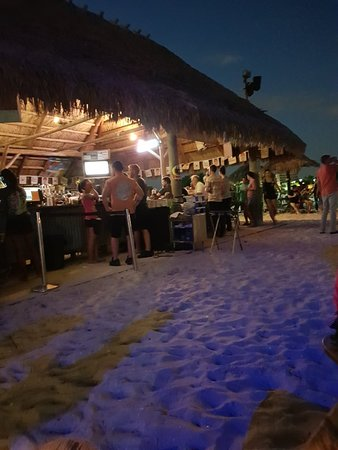 Dinner - right On the beach. Sand and all!!