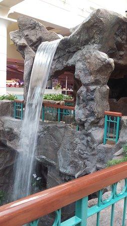 One of the numerous indoor waterfalls - Picture of Foxwoods Resort ...