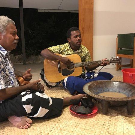Navini Island, Fiji: Kava time!