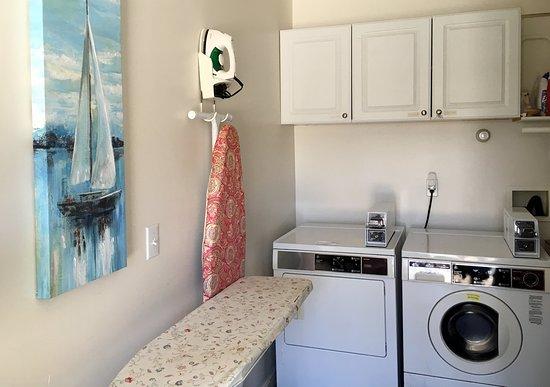 Casco, ME: Laundry room in the motel.