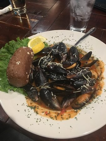 West Fargo, ND: Mussels Malone -Mussels sautéed with Garlic, Onions, Tomatoes.