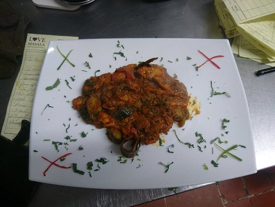 Saltney, UK: Babs special curry with cucumber medium spicy suitable for most of the curry lover regards love