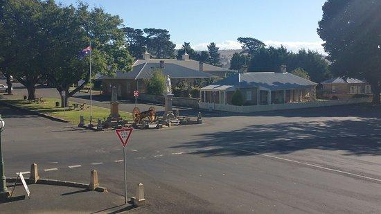 Ross, Australia: view from the guest communal veranda