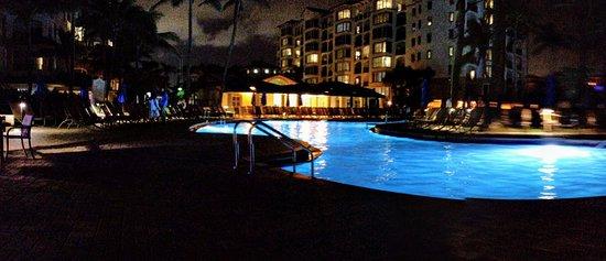 Palm Beach Shores, FL: Sailfish pool at night