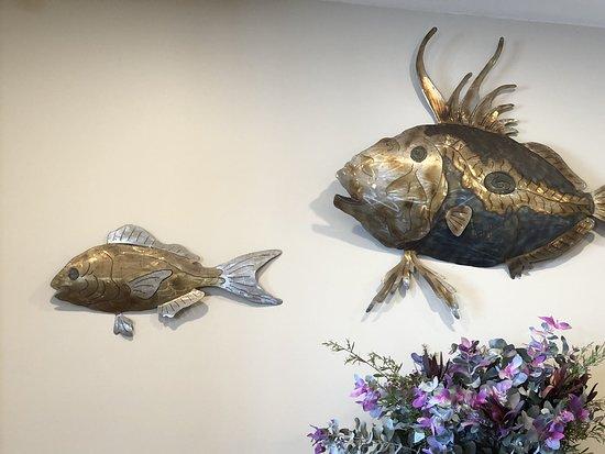 Port Elliot, Australië: Fishy wall.