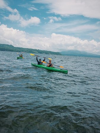 Kayaking at Tondano Lake in North Sulawesy. Come and join us if you wanna experience some like t