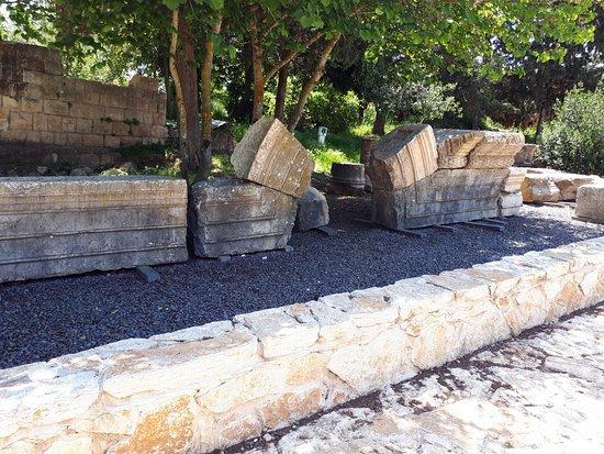 Jish, Israel: Baram National Park - Synagogue Beam remains