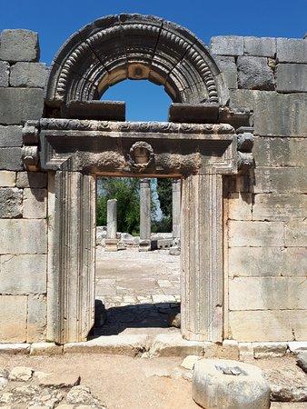 Jish, Israel: Baram National Park - Synagogue entrance